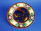 Unusual and Early Wedgwood Majolica 'Daisy' pattern Plate c1864